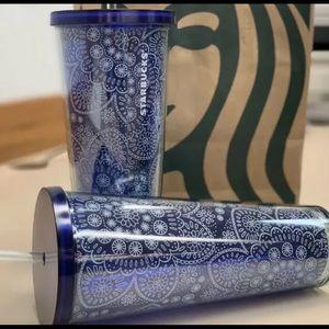 Starbucks blue succulent floral venti cup 24OZ